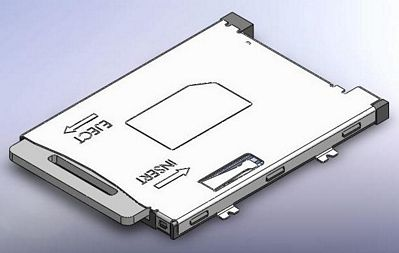sim card push-push connector
